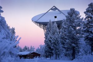 EISCAT antenna outside Kiruna.