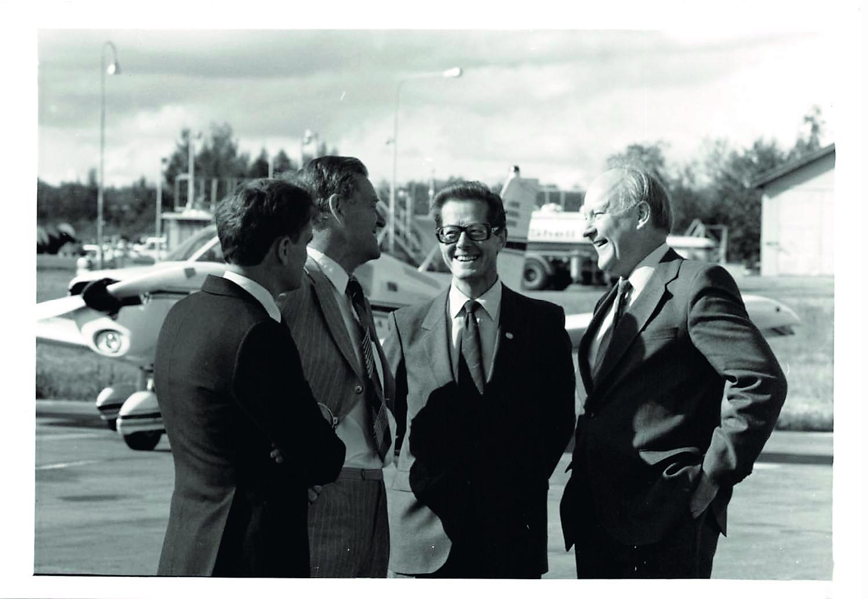 Professor emeritus Bengt Hultqvist before the inauguration of EISCAT, August 26 1981. © EISCAT Scientific Association